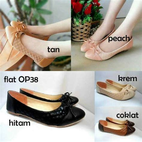 Sandal Wanita Teplek List Krem 3 Grosir Sepatu Wanita Perempuan Cewe new produk sepatu wanita flat shoes ribbon opp38 flat