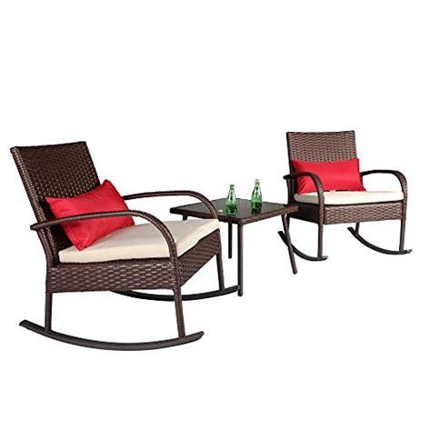 white wicker bistro chairs cloud mountain outdoor 3 rocking chair set wicker
