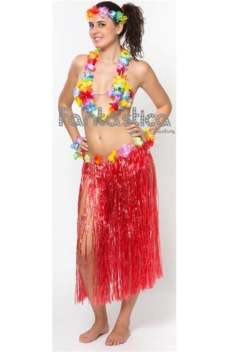 fotos trajes hawainas set completo de falda sujetador corona pulseras y