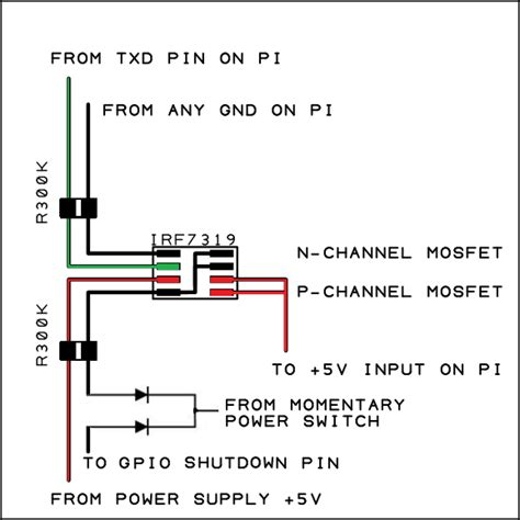 diode mosfet raspberry pi simple soft on circuit othermod
