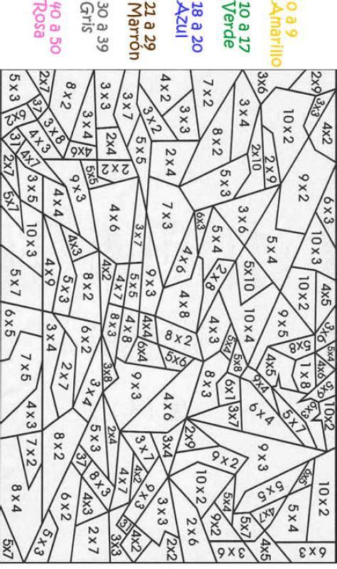 imagenes para colorear tablas de multiplicar calcular dibujos m 225 gicos dibujo multiplicar y colorear