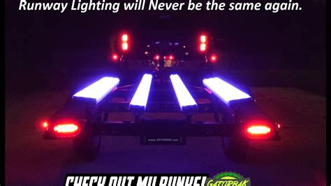 boat trailer strip lights gatorbak premium clear bunk covers with red led light