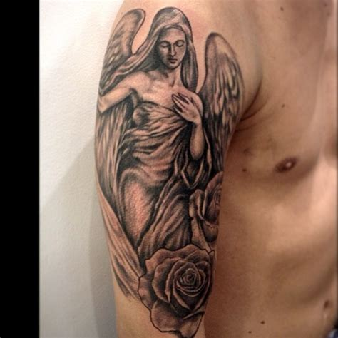 angel tattoo sleeve tattoos page 10