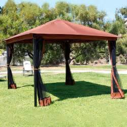 Mosquito Netting For Gazebo 10 X 12 Patio Gazebo Canopy With Mosquito Netting