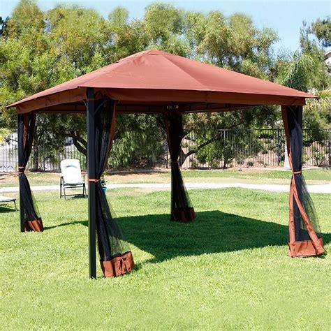 tent backyard 10 x 12 patio gazebo canopy with mosquito netting