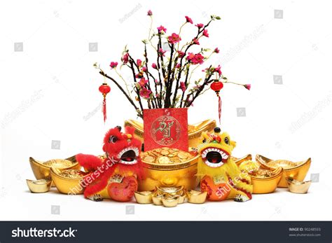new year traditional decorations new year decorationstraditional lionsgold