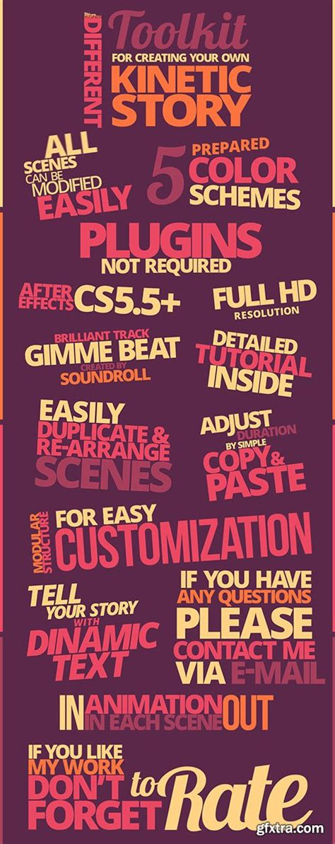 kinetic typography tutorial photoshop videohive kinetic typography pack 10997449 187 vector