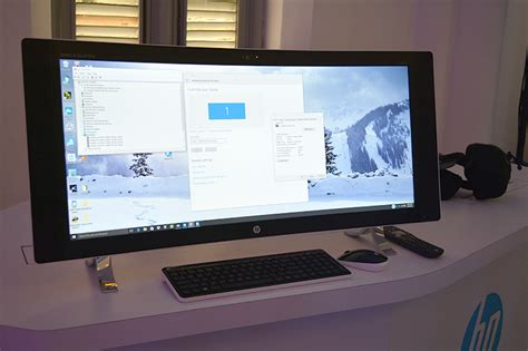 Monitor All In One an aio pc with a gorgeous 34 inch curved display hp just