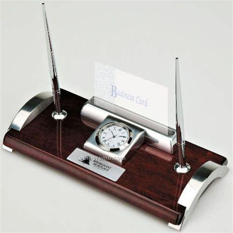 desk clock pen set executive pen set clock card holder china wholesale