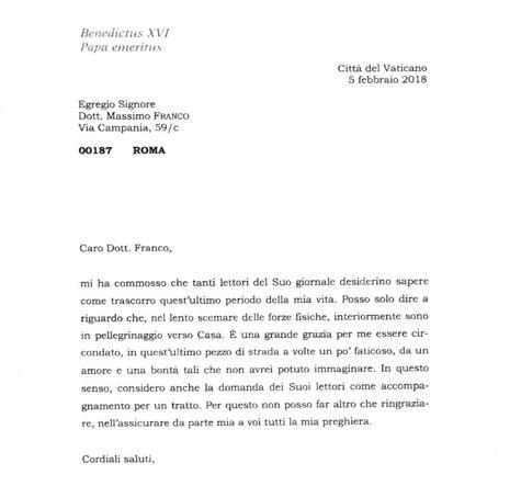 lettere al corriere benedetto xvi e la lettera al corriere 171 sono in