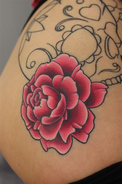 peony rose tattoo designs flower tattoos design images style project 4