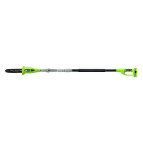 earthwise 10 in cordless lithium ion pole saw lps41010