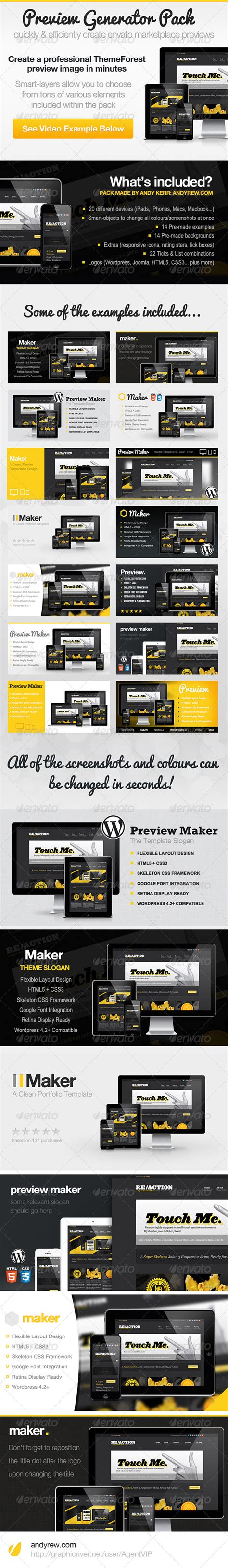 themeforest graphics themeforest preview generator pack graphicriver