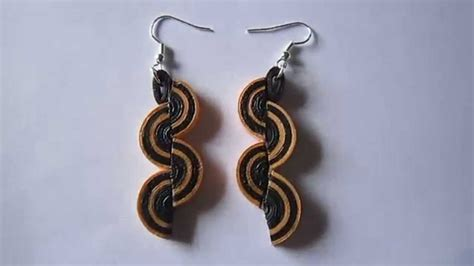 Paper Earrings Handmade Paper Jewellery - handmade jewelry paper quilling half disk earrings free
