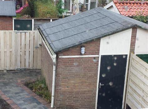 dak voor schuur vervanging bitumen schuin dak schuur circa 3x4meter