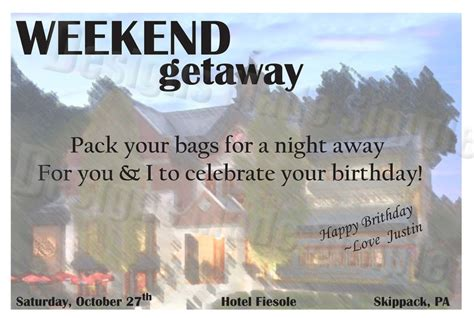 Getaway Gift Card - pin by erin foley on lauren s etsy store pinterest