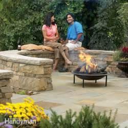 build dry laid flagstone patio build a flagstone and stone block patio the family handyman