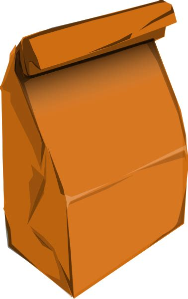 Brown Lunch Bag Clip