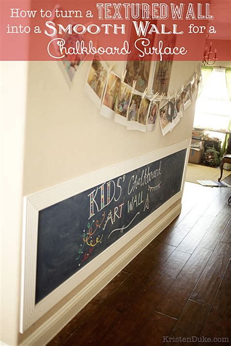 chalkboard paint and textured walls chalkboard wall how to turn a textured wall into