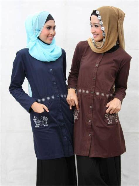Promo Gamis Syari Coklat Baju Gamis Modern busana muslim koleksi terbaru