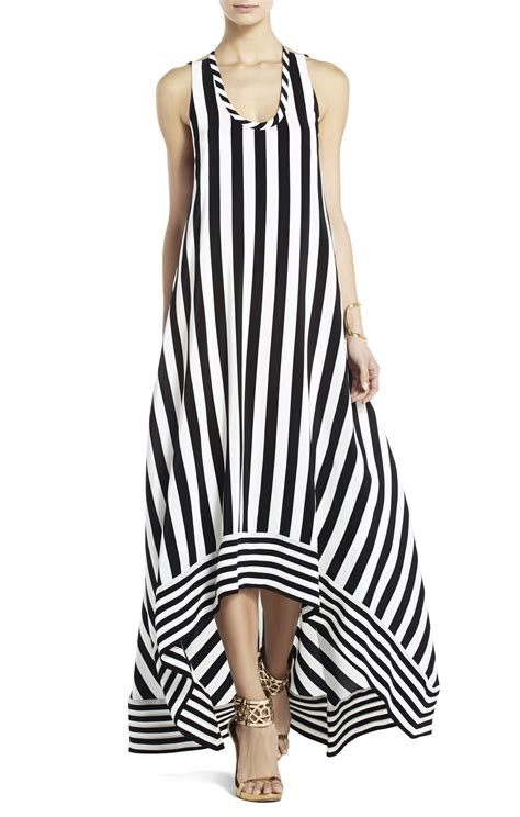 Striped Dress bcbgmaxazria silk high low striped dress bcbg