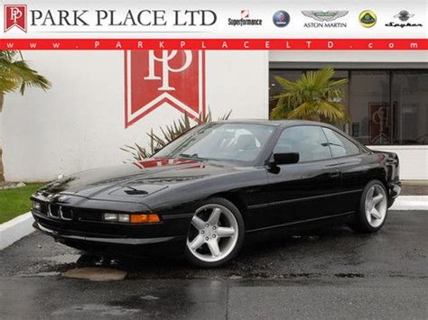 buy car manuals 1992 bmw 8 series lane departure warning buy used 1992 bmw 850i calypso red over tan leather 5 0 liter v12 with automatic in belmont