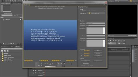 adobe premiere pro usb video capture how to capture footage in adobe premiere cs5 mini dv tape