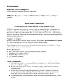 Electrical Engineer Responsibilities by Sle Electrical Engineer Description 10 Exles In Pdf Word