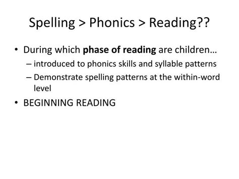 phonics and word study for the of reading programmed for self 11th edition ppt phonics and spelling moving on to