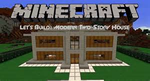 how to build a 2 story house let s build modern two story house in minecraft youtube
