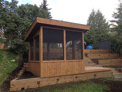 Built In Gazebo Treated Brown Retaining Wall With Built In Gazebo On Bank