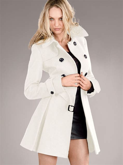 victoria s victoria s secret the wool trench coat in white winter
