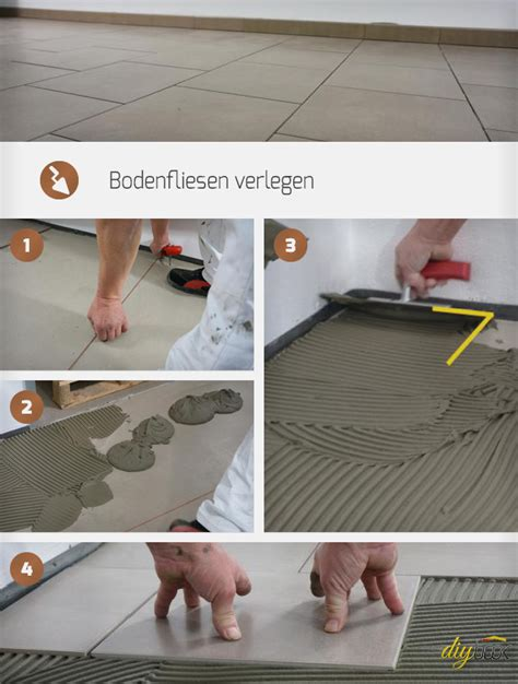 Bodenfliesen Verlegen Kosten by Bodenfliesen Verlegen Anleitung Diybook De