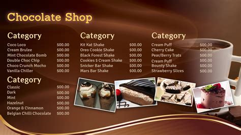 Menu Dan Coffee Toffee professional digital signage templates signagecreator