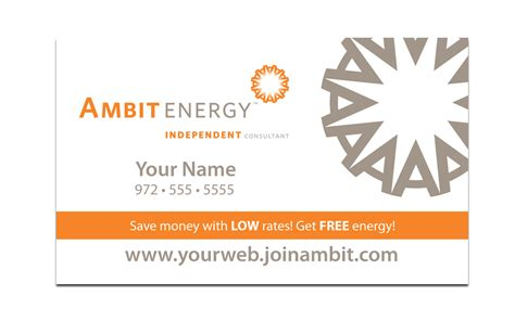 ambit energy business card template business card template 187 ambit energy business card