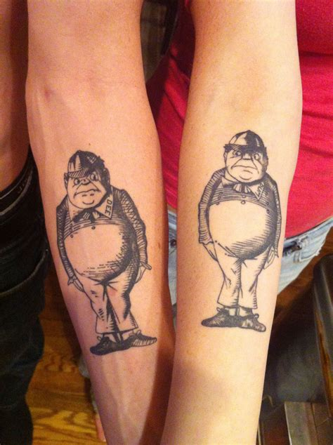 matching brother and sister tattoos our last name is tweedle so it