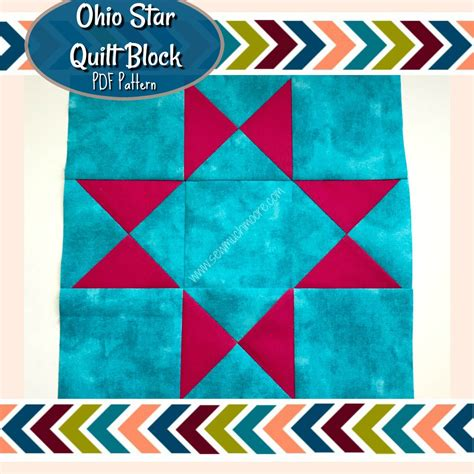 free pattern ohio star quilt block ohio star quilt block pdf pattern sew much moore