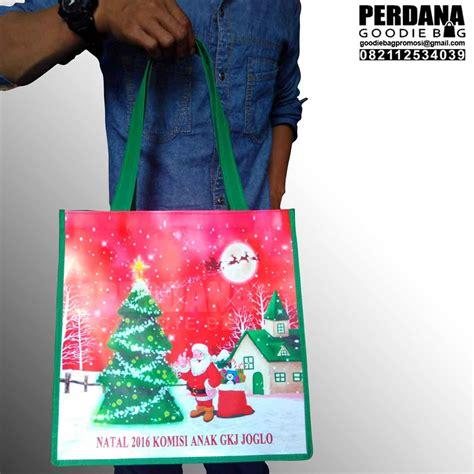 Tas Sauvenir Natal Model Kantonh Tas Souvenir Natal Printing Kalep Perdana Goodie Bag
