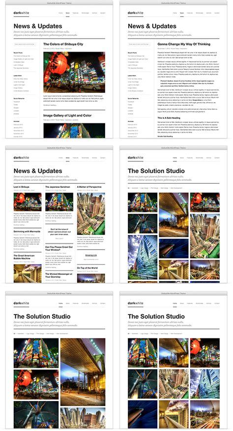 blogger themes portfolio darkwhite blog portfolio wordpress theme by ruventhemes