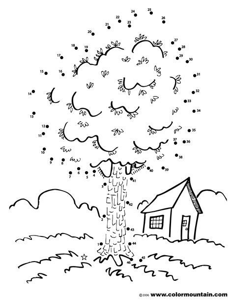 Tree Dot To Dot Coloring Pages Maple Tree Activity Coloring Page Create A Printout Or by Tree Dot To Dot Coloring Pages