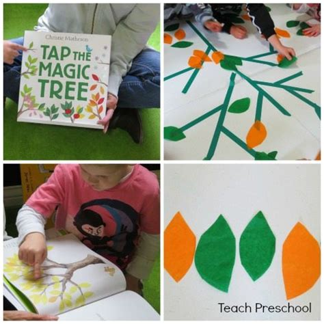 table top activities for tapping our own magic table top tree teach preschool