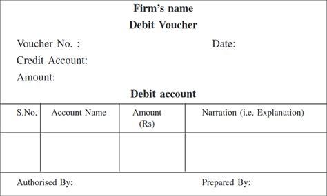 Debit Credit Voucher Format Understanding Types Of Accounting Vouchers Debit Vouchers Flexiprep