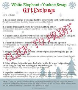 White elephant gift exchange ideas and rules