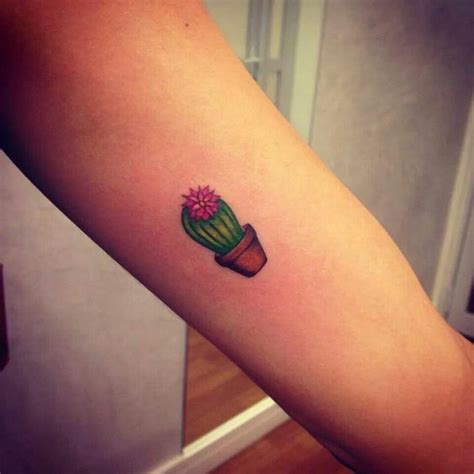cactus tattoo 32 simple cactus tattoos