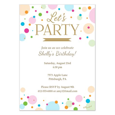 Birthday Invitation Card Template by Let S Invitation Invitations Cards On Pingg