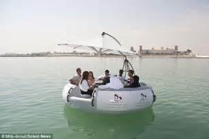 floating boat bbq bbq donut boat where you can sizzle sausages over an open