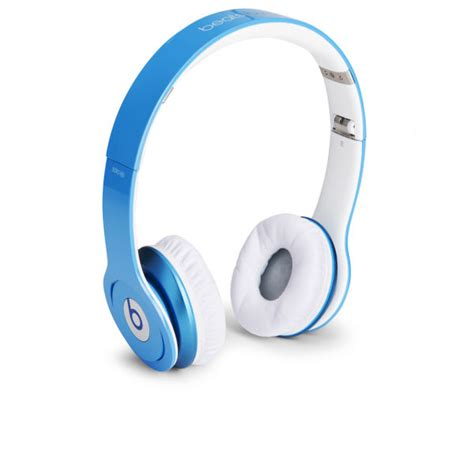 beats light blue beats by dr dre hd headphones with