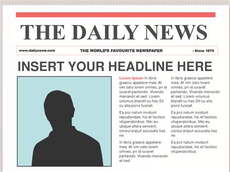 best photos of front page newspaper layout template