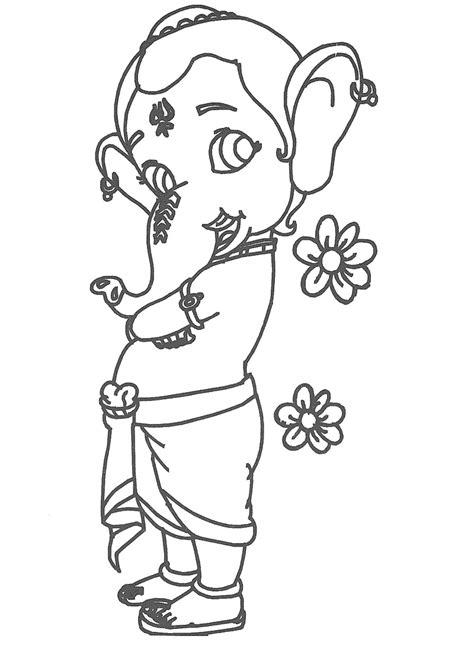 Pencil Drawing Vinayagar