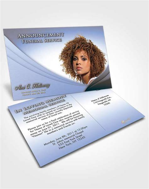 funeral announcement cards templates funeral program templates editable word templates